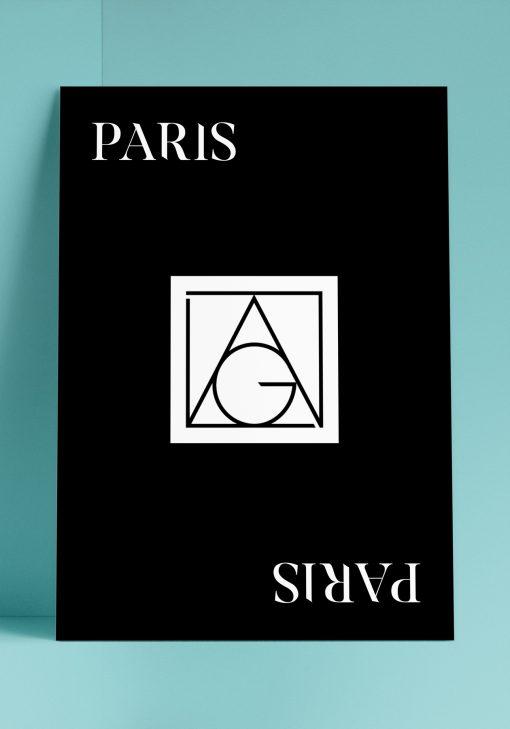 Affiche avec l'identité de la marque Lag réalisée par Arno Ché