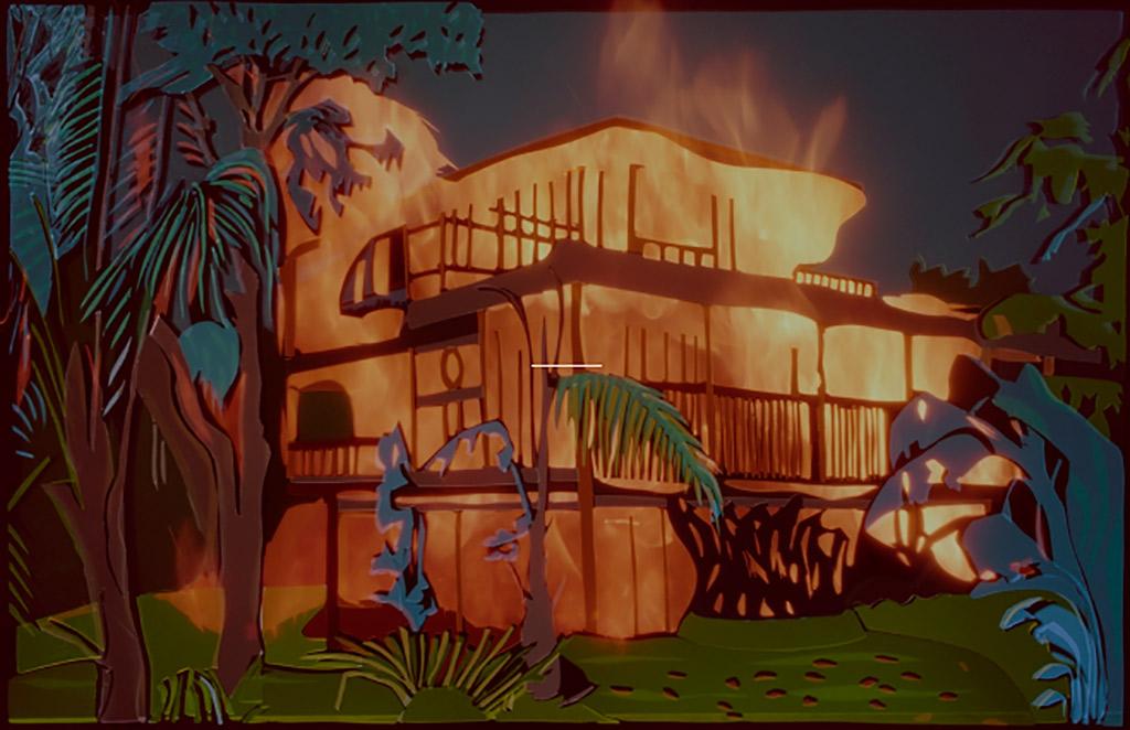 """L'oeuvre """"tropical uncanny"""" réalisée par David Ledoux"""