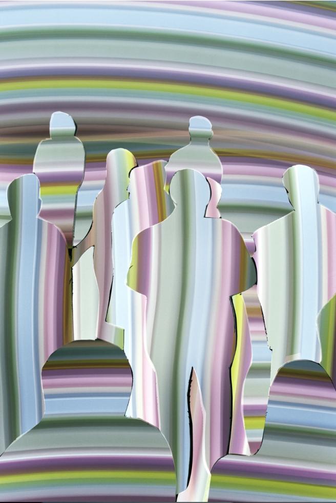 """L'oeuvre """"Vision Abstract"""" 3 réalisée par David Ledoux"""