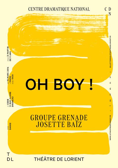 Affiche réalisée par Pierre de Belgique pour le théâtre de Lorient