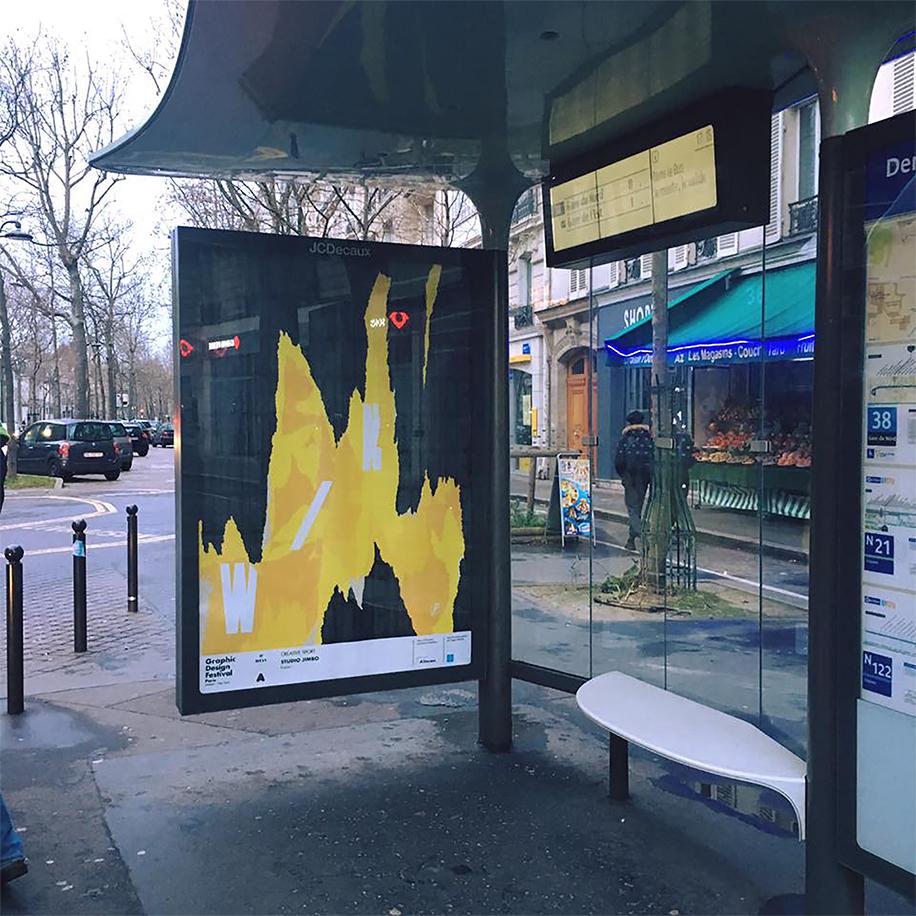 Affiche bus réalisée par studio jumbo