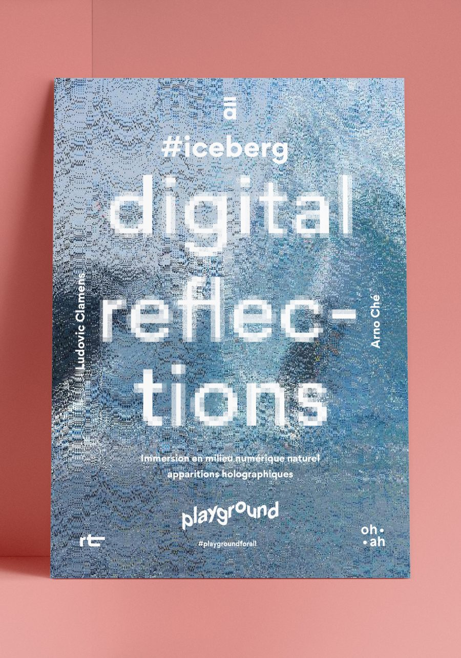 Affiche pour l'exposition digital reflections organisée par Playground For All